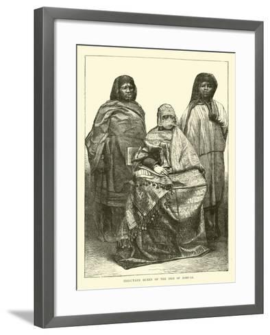 Tributary Queen of the Isle of Moheli--Framed Art Print
