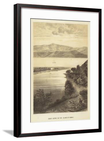 Coast Scene on the Island of Hawaii--Framed Art Print