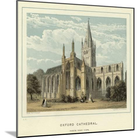 Oxford Cathedral, North West View--Mounted Giclee Print