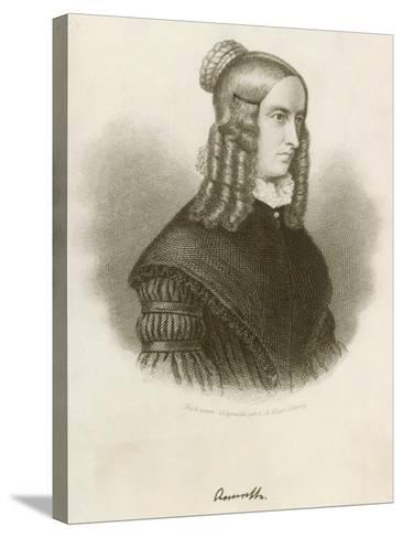 Portrait of Annette Von Droste-Hulshoff--Stretched Canvas Print