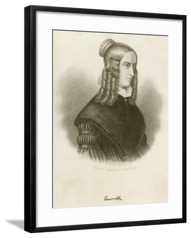 Portrait of Annette Von Droste-Hulshoff--Framed Art Print