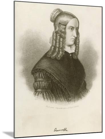 Portrait of Annette Von Droste-Hulshoff--Mounted Giclee Print