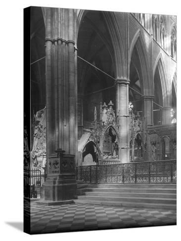 Interior of Westminster Abbey, London-Frederick Henry Evans-Stretched Canvas Print
