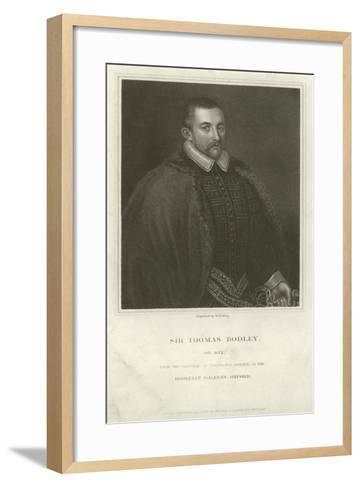 Sir Thomas Bodley, English Diplomat and Scholar--Framed Art Print