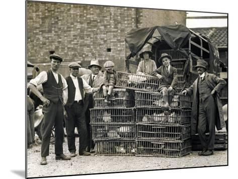Market Vendors with Chickens--Mounted Photographic Print