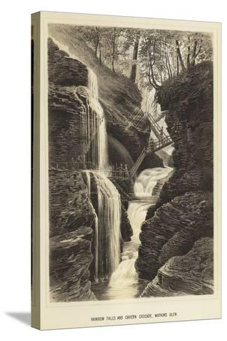 Rainbow Falls and Cavern Cascade, Watkins Glen--Stretched Canvas Print