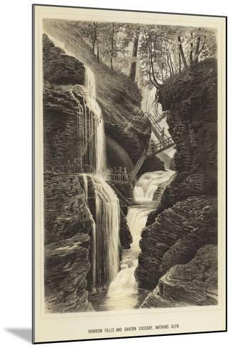 Rainbow Falls and Cavern Cascade, Watkins Glen--Mounted Giclee Print
