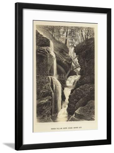 Rainbow Falls and Cavern Cascade, Watkins Glen--Framed Art Print