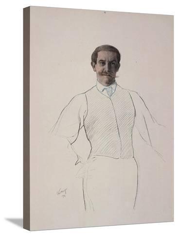 Self-Portrait, 1906-Leon Bakst-Stretched Canvas Print