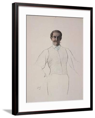 Self-Portrait, 1906-Leon Bakst-Framed Art Print