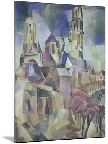 The Towers of Laon, 1912-Robert Delaunay-Mounted Giclee Print