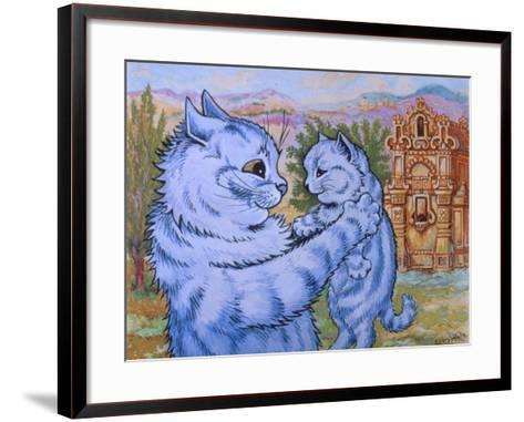 Sweetness Coyed Love into its Smile, C.1935-Louis Wain-Framed Art Print