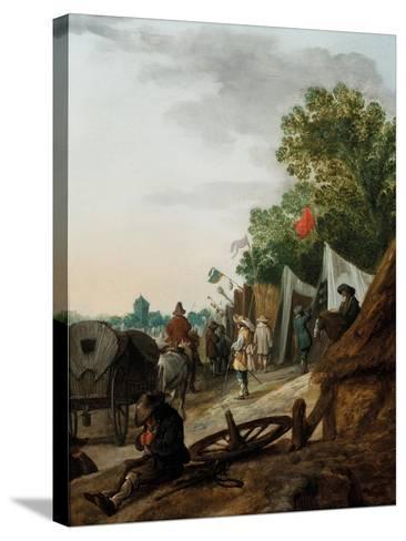 A Military Encampment-Palamedes Palamedesz-Stretched Canvas Print
