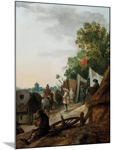 A Military Encampment-Palamedes Palamedesz-Mounted Giclee Print