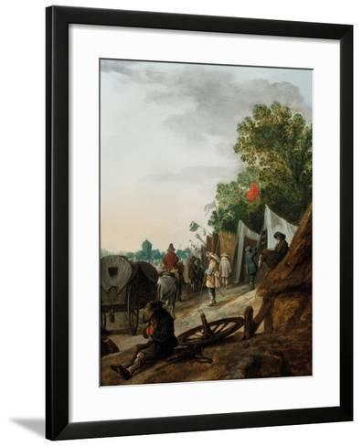 A Military Encampment-Palamedes Palamedesz-Framed Art Print