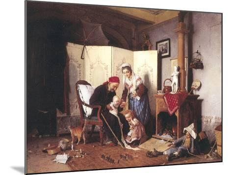 A Game of Soldiers, 1878-Gaetano Chierici-Mounted Giclee Print