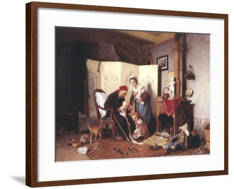 A Game of Soldiers, 1878-Gaetano Chierici-Framed Art Print