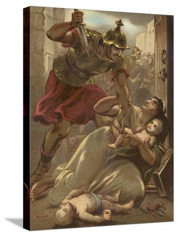 The Massacre of the Children at Bethlehem--Stretched Canvas Print