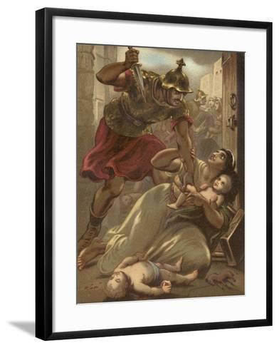 The Massacre of the Children at Bethlehem--Framed Art Print