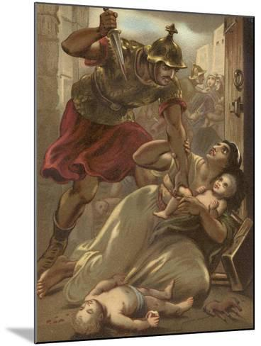 The Massacre of the Children at Bethlehem--Mounted Giclee Print