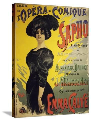 Poster for Sapho, Opera-Henri Cain-Stretched Canvas Print