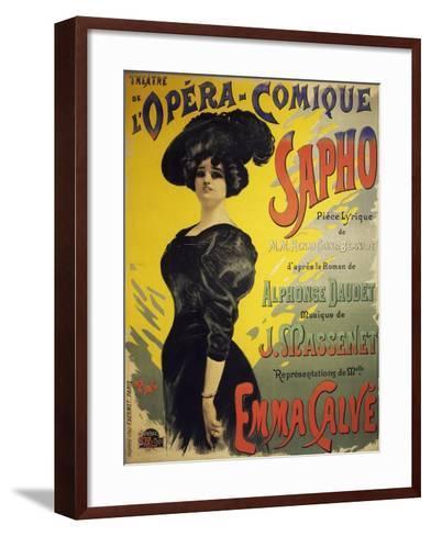 Poster for Sapho, Opera-Henri Cain-Framed Art Print
