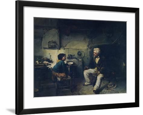 The Hunter, by Domenico Induno--Framed Art Print