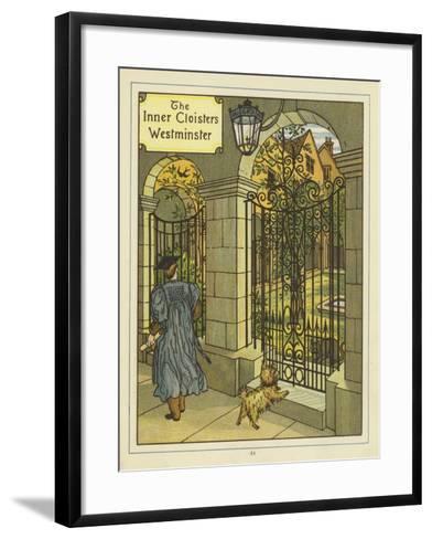 The Inner Cloisters of Westminster-Thomas Crane-Framed Art Print