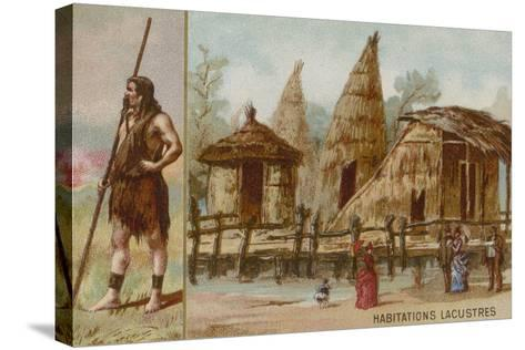 Lake Dwellings--Stretched Canvas Print