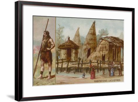 Lake Dwellings--Framed Art Print