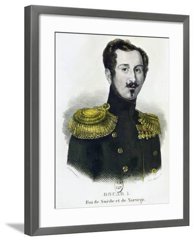 Portrait of Oscar I--Framed Art Print
