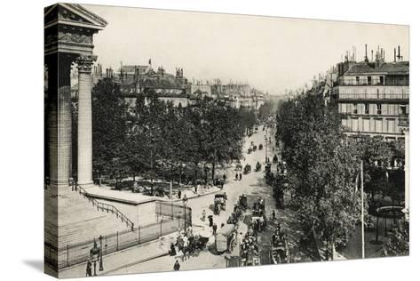 Boulevard De La Madeleine, 1900--Stretched Canvas Print