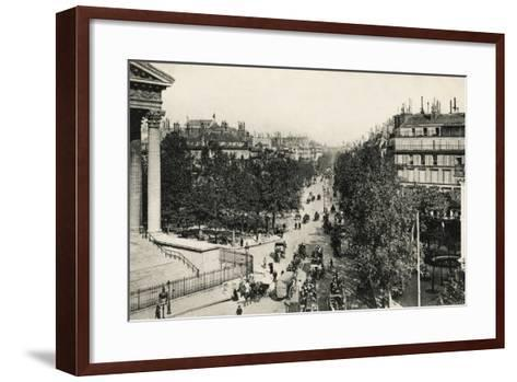 Boulevard De La Madeleine, 1900--Framed Art Print