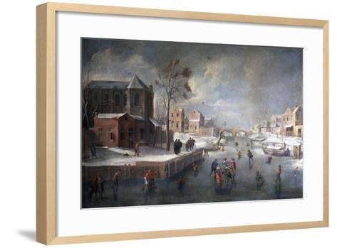 Winter Landscape with Church-Jan Wildens-Framed Art Print