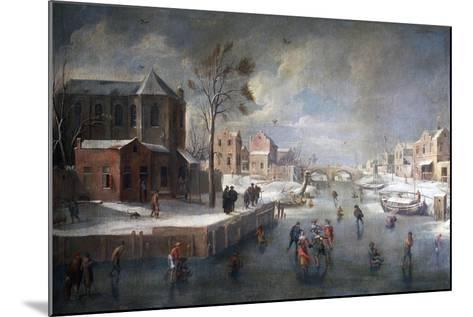 Winter Landscape with Church-Jan Wildens-Mounted Giclee Print
