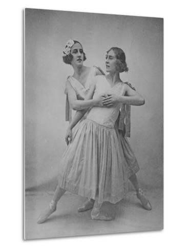 Lubov Tchernicheva and Lydia Sokolova--Metal Print
