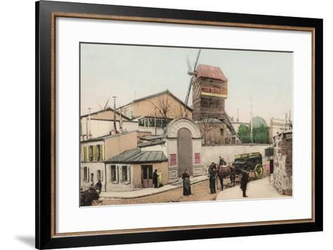 Moulin De La Galette, Montmartre, 1900--Framed Art Print