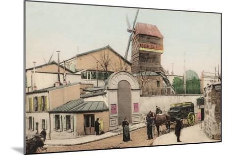 Moulin De La Galette, Montmartre, 1900--Mounted Photographic Print