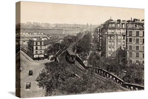 Metro on Boulevard De Grenelle, Paris, 1910--Stretched Canvas Print