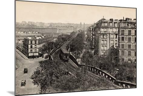 Metro on Boulevard De Grenelle, Paris, 1910--Mounted Photographic Print