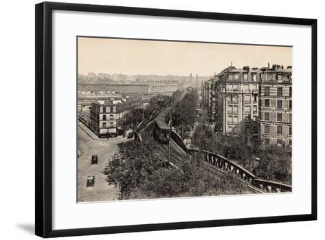 Metro on Boulevard De Grenelle, Paris, 1910--Framed Art Print