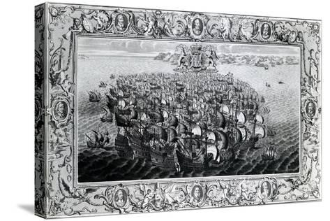 The Spanish Armada, Published by John Pine, 1739--Stretched Canvas Print