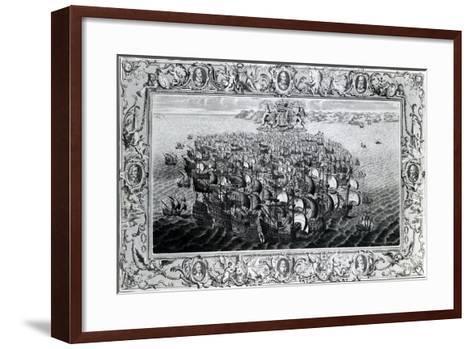 The Spanish Armada, Published by John Pine, 1739--Framed Art Print