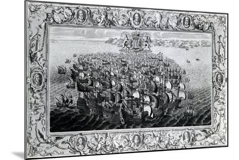 The Spanish Armada, Published by John Pine, 1739--Mounted Giclee Print