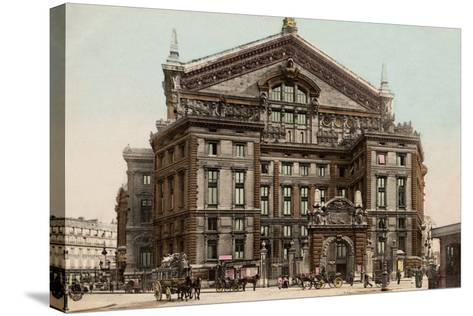 The Opera Seen from Boulevard Haussmann, 1900--Stretched Canvas Print