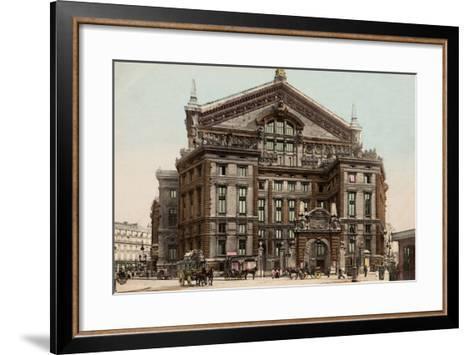 The Opera Seen from Boulevard Haussmann, 1900--Framed Art Print