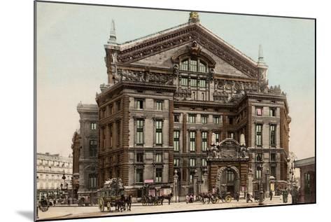 The Opera Seen from Boulevard Haussmann, 1900--Mounted Photographic Print