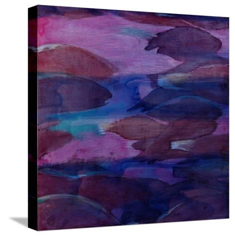 Purple Parrots VI, 2000-Charlotte Johnstone-Stretched Canvas Print