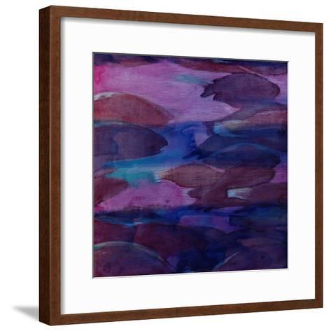 Purple Parrots VI, 2000-Charlotte Johnstone-Framed Art Print