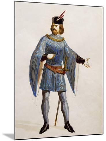 Costume Sketch for Arturo in La Straniera--Mounted Giclee Print